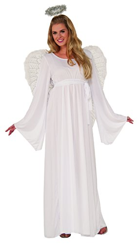 Forum Novelties, Unisex Child Angel Dress and Halo Value Costume, Multi, Standard