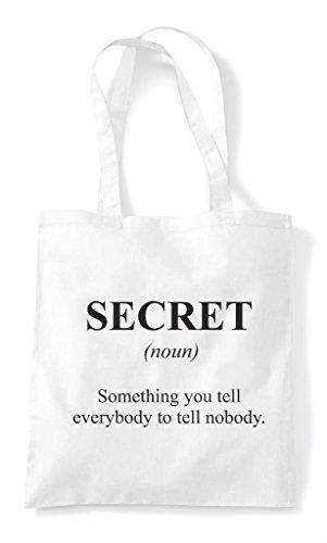 White The Not Bag Secret Tote Funny Shopper Dictionary In Alternative Definition qXqPwAOv