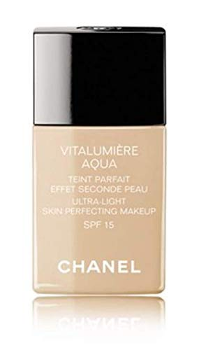 Chanel Vitalumiere Aqua Ultra Light Skin Perfecting Make up SFP 15 30ml/1oz#12 Beige Rose by Chanel