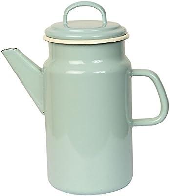 Dexam 2 litros Acero esmaltado Vintage Home cafetera, Verde ...
