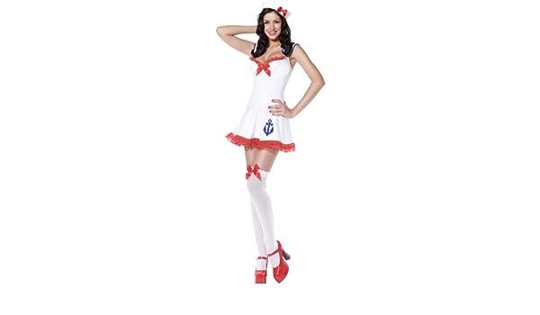 Fiebre Pin Up Away ancla de disfraz para mujer: Amazon.es ...