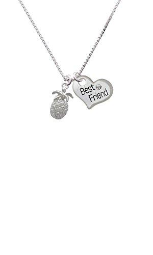 Pineapple - Best Friend Heart Necklace