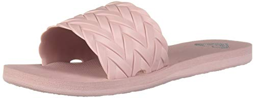(Roxy Women's Kirbi Slide Sandal, Mauve Wine, 8 Medium US)