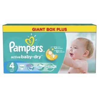 PAMPERS Active Baby Dry Pañales Máxima de4 Tallas 7 – 14 kg hasta 424 Pañales
