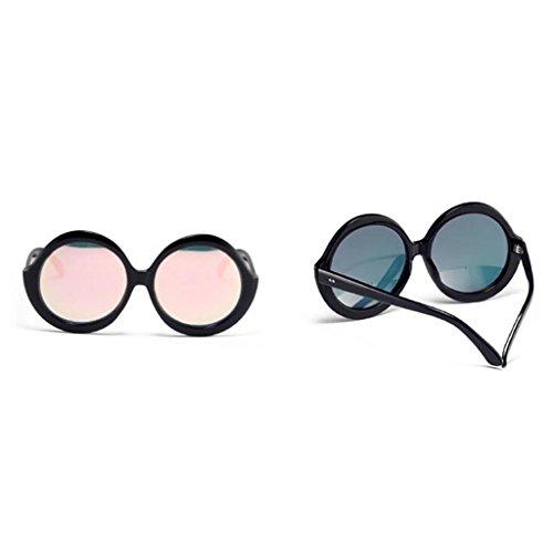 Brown Pink QZ Rond HOME Grand Cadre Polarisée Vintage Couleur Mode Simple Lumière De La Harajuku Personnalité Lunettes Soleil À UTRrZUn