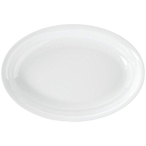 Elite Global Solutions M1510OV-NW Oval Serving Platter White Melamine 15