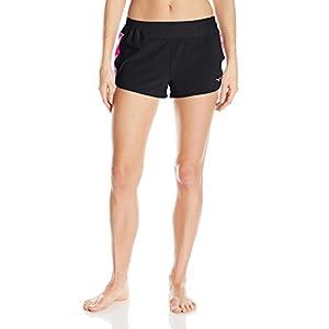 "Mizuno Running Women's Premium Square 2.5"" Shorts, Small, Black/Diva Pink"