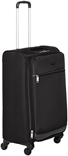 Black Suitcase - AmazonBasics Softside Spinner Luggage, 25-inch, Black
