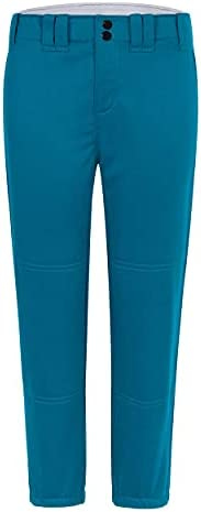 Willit Girls' Softball Pants Kids' Youth Baseball Pant Belted Low Rise Fastpitch Pants with