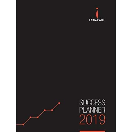 I Can-I Will Success Planner Diary Organizer Weekly Monthly Yearly 2019  Hardbound (FSP19HB)