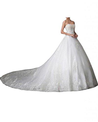 sunvary Romántico Corazones para vestidos de novia Vestidos de Fiesta blanco