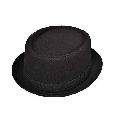 in Black or Grey Breaking Bad Heisenberg Style Mens Pork Pie Trilby Fedora Hat with Grosgrain Band Unisex