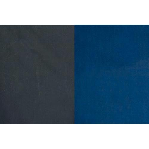 Backdrop Alley Medium Blue/Graphite Reversible Muslin Photo Background, 10' x 24' by Backdrop Alley