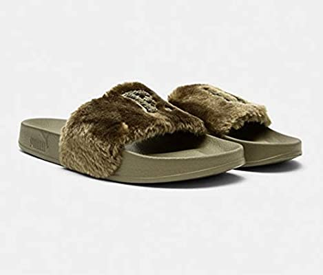 on sale c9236 9a3c7 Puma Leadcat Fenty Slides Olive: Amazon.com: BrandsForLessUAE