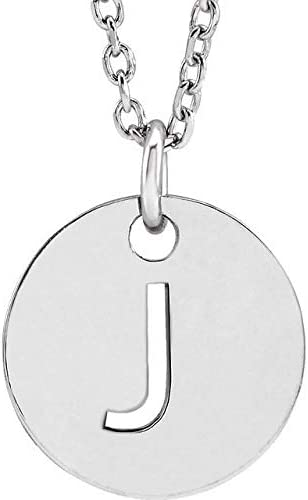 Sterling Silver Initial J 16-18 Necklace Initial Necklace or Pendant