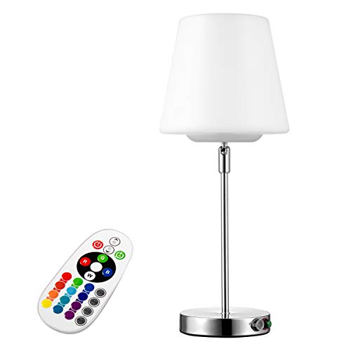 (Led Decorative Table Lamp, White Light and Color RGB with Remote Control, Can Be Charged,Suitable for Indoor and Outdoor, Not Suitable for Lighting.Great for Decoration Parties & More )