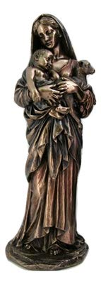- Woodington's Le Innocence Madonna Child 11 Inch Bronze Statue