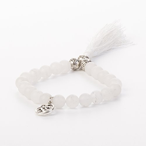 Balance-Tassel White Moonstone Bracelet by Kuratif Healing Gemstones