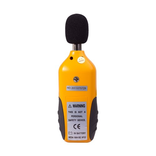 Flexzion Digital Decibel Sound Meter Level Tester Pressure Noise Measurement Tool Portable 30 dBA - 130 dBA with LCD Display Battery and Frequency Weighting for Musicians Sound Audio