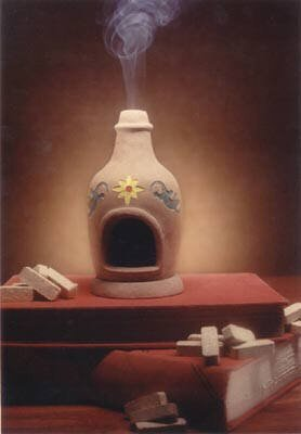 Chiminea Fireplace Burner With Cedar Natural Wood Incense - Incienso De Santa Fe