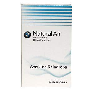 BMW Original Natural Air Interior Aromas Sparkling Rain Drops Kit de Recarga 83122285679