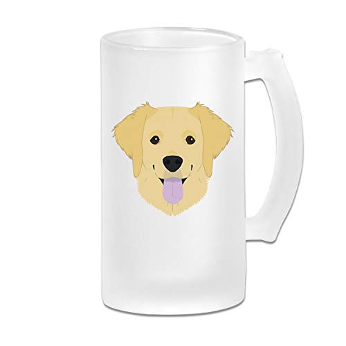 Frosted Beer Cup, Golden Retriever 4 Personalized Stein - Golden Retriever Stein