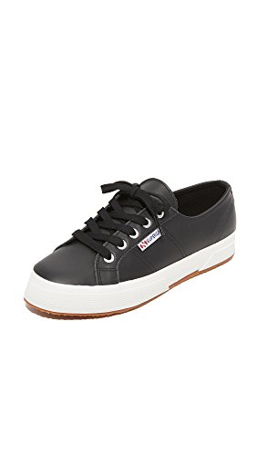 Superga Women's 2750 Fglu Wt Fashion Sneaker, Black, 41 EU/9.5 M US