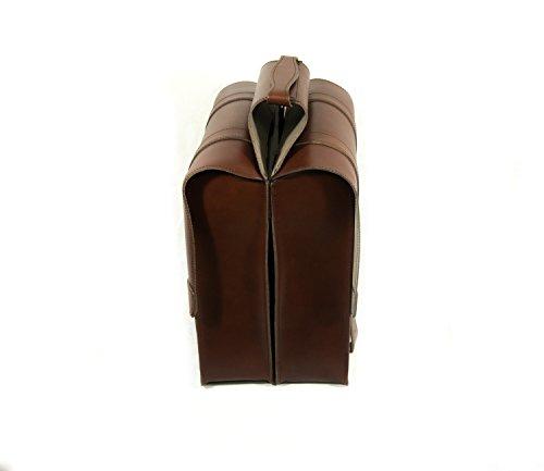 Handtasche Pisa 1931–Doppeltasche für Fahrrad. Taschen Fahrrad-Gepäckträger. Echtes Leder. Farbe Braun. Made in Italy (Vin _ 131_ M)