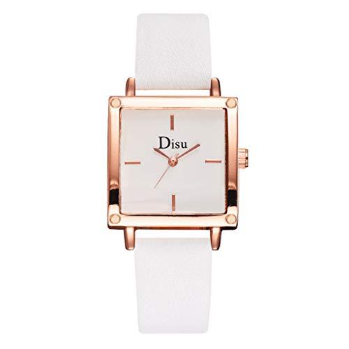 chenqiu Fashion Simple Square Digital Quartz Watch, Ladies Quartz Stainless Steel Strap Casual Fashion Diamond Waterproof Watch