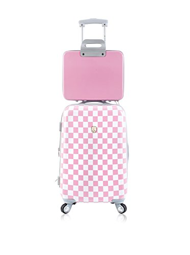 2-piece-expandable-hardside-spinner-luggage-set-checkered-pink
