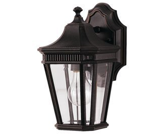 Feiss OL5400GBZ-LED Cotswold Lane LED Outdoor Patio Wall Lantern, 1-Light, Bronze (7''W by 12''H)