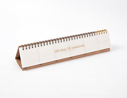 JSTORY Personal Desk Weekly Scheduler 55 Sheets White