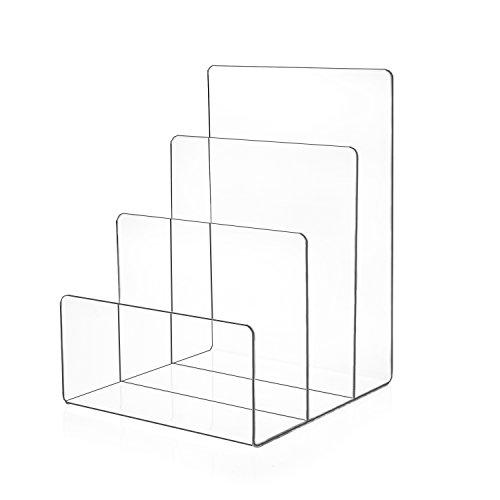Source One Premium Clear Acrylic Desktop File Organizer