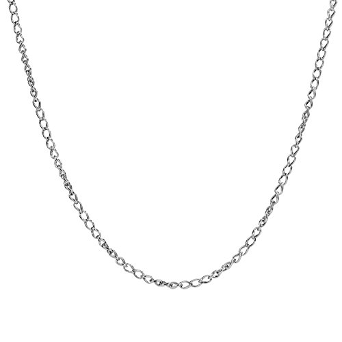 Carolyn Pollack Sterling Silver Single Wheat Chain Necklace 24 Inch