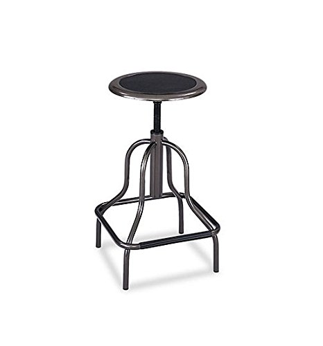 Safco Diesel Backless Industrial Stool (High Base Black Leather Seat)