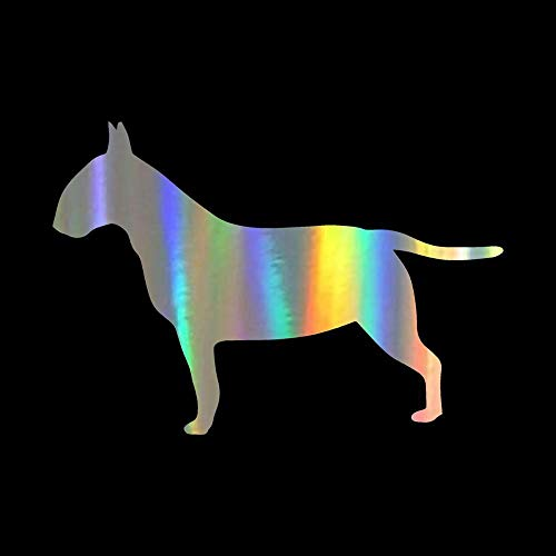 - 11.58CM Bull Terrier Dog Silhouette Car Sticker Car Styling Decor Decals Motocycle Accessories Full Body Car Stickers Dazzle Color 1pcs