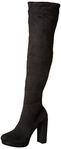 Black madden Knee girl Groupie Over The Fabric Boot Women's Z04TZ