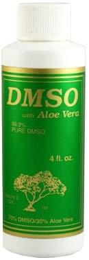 DMSO Gel with 70% DMSO and 30% Aloe Vera (Pack of 2), 4 Oz Each