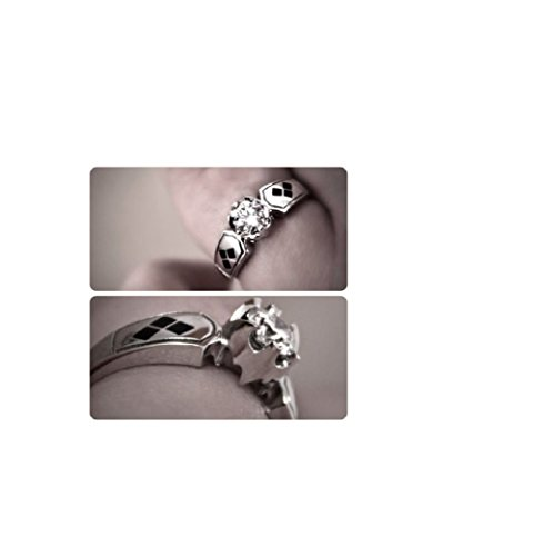 Batman Harley Quinn Round Cut 925 Sterling Silver Engagement Bridal Ring Unisex in Size 4-12
