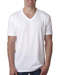 Next Level Apparel 6240 Mens Premium CVC V-Neck Tee - White44; Large