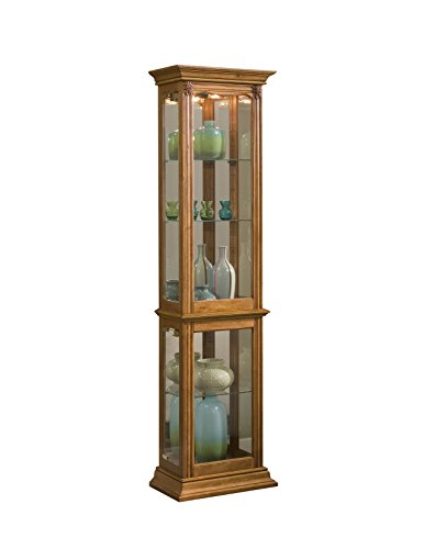 Pulaski Curio, 18 by 11 by 70-Inch, Medium Brown for sale  Delivered anywhere in USA