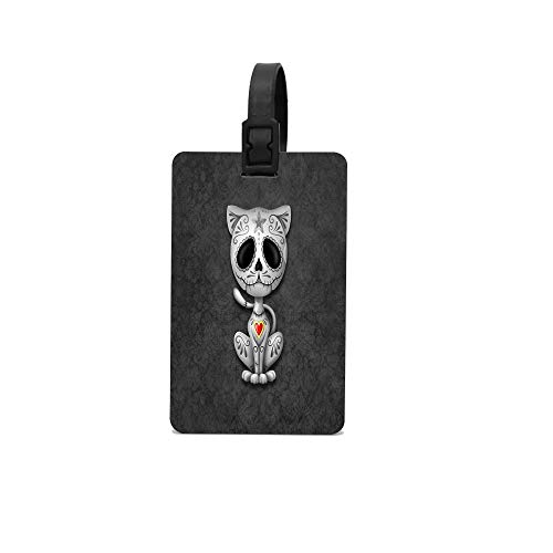 (Lovwepilo Dark Zombie Sugar Kitten Cat Personalized Luggage Tags Gifts - Elegant and Durable Travel Suitcase Name Tags, Gift for Travelers Men and Women )