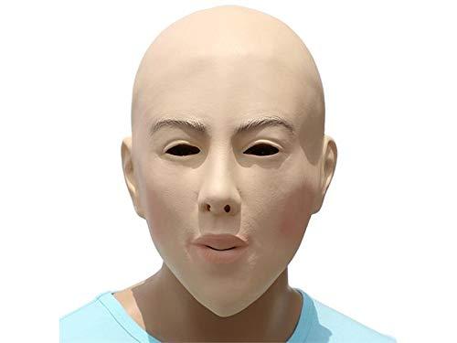 Scary - Máscara de Halloween con Cabeza de bálsamo para Fiesta de fantasía (Color Piel), decoración de Halloween