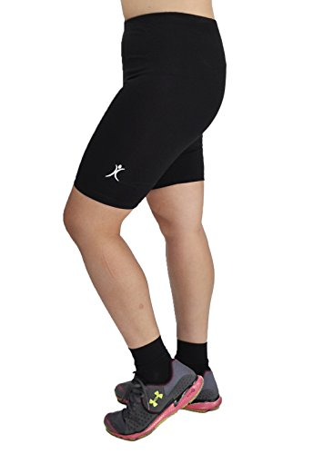 A Big Attitude Women's Plus Size Performance Bike Shorts (6X, Black)