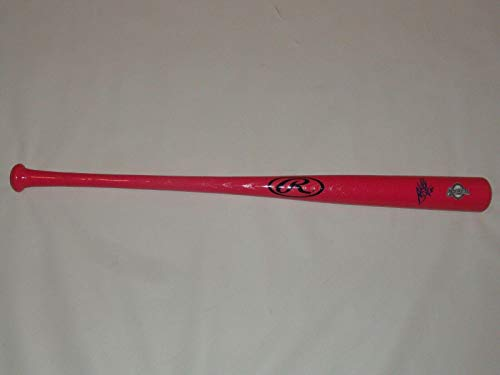 Jesus Aguilar Signed Pink Rawlings Bat Milwaukee Brewers Mothers Day Rare - Autographed MLB ()