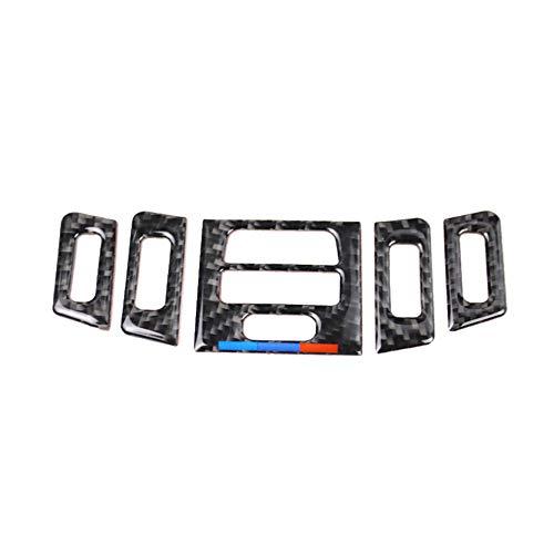 Carbon Fiber Air Conditioning AC Air Vent Outer Panel Frame Decal Cover Trim for BMW 3 Series 5th E90 E91 E92 E93 315 318 320 323 325 328 2005-2013 BMW179 (A Style)
