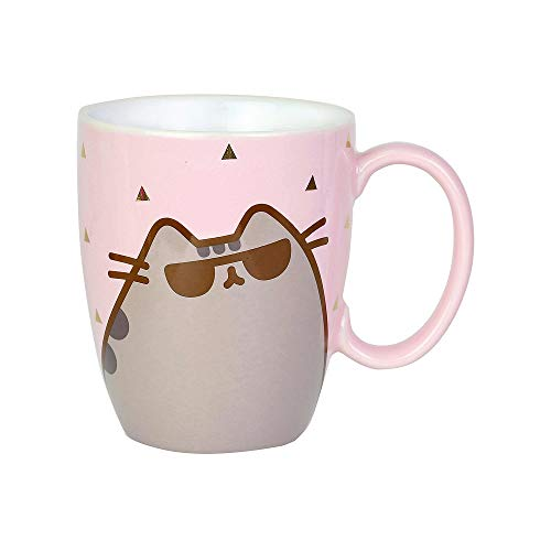 Enesco 6004623 Pusheen by Our Name is Mud Sunglasses Coffee Mug 12 oz. Pink ()