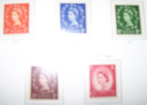 II WILDINGS, WATERMARK INVERTED, SET OF 5, UNMOUNTED MINT. by THE POST OFFICE. (Unmounted Mint)