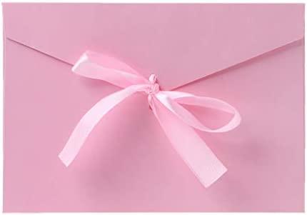 Tinaa - Lote de 10 sobres para tarjetas postales o invitaciones, color rosa