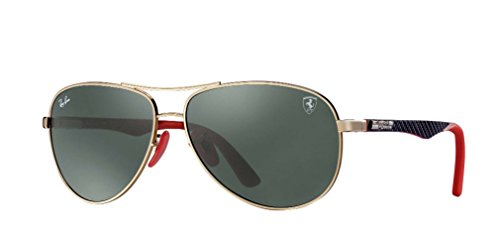 Ray-Ban Men's 0rb8313mf0087161steel Man Aviator Sunglasses, Gold, 61 - Case Rayban Glasses